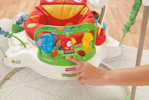 Toys from Fisher Price Rainforest Jumperoo with a hand