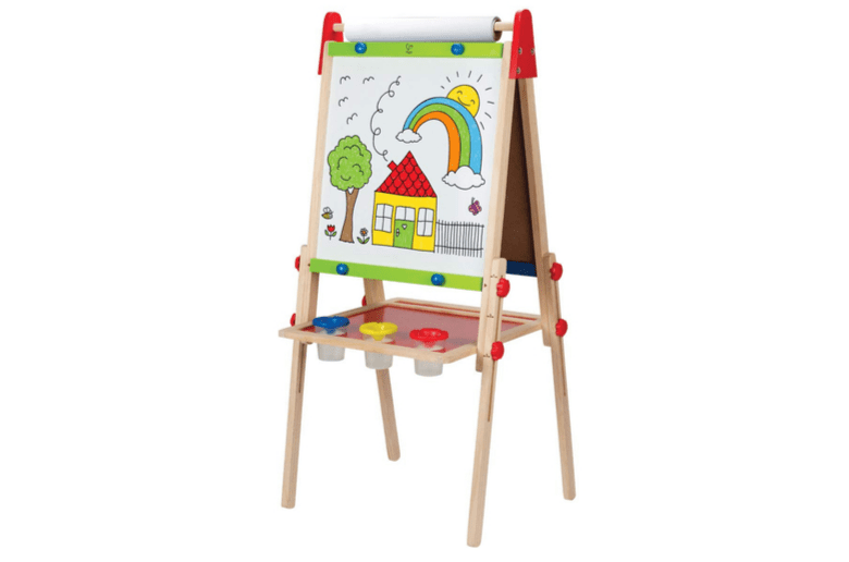 Easel - Award Winning Hape All-in-One Wooden Kid's Art Easel with Paper Roll and Accessories