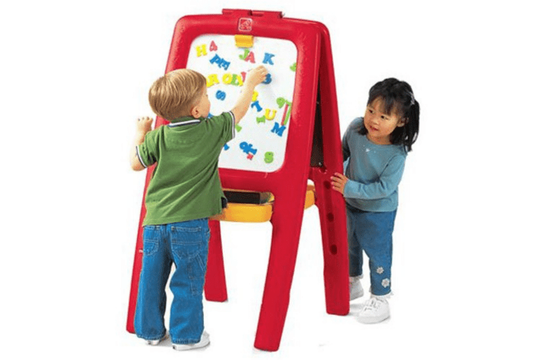 Easel - Step2 Easel for Two Kids Double-Sided Art Easel with Magnetic Letters & Numbers