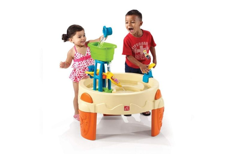 Water table from Step2 Big Splash Waterpark showing two kids