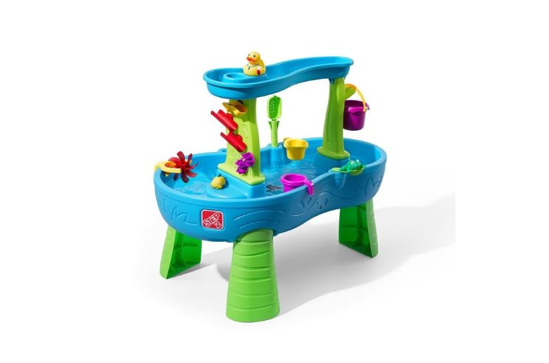 Water table for kids with a duck on the top