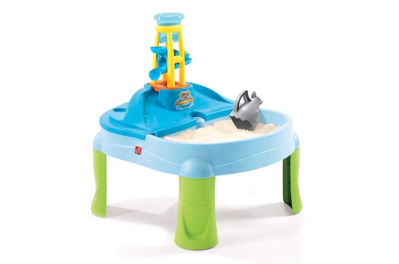 Water table from Step2 showing a table with water and sand parts