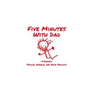 Podcasts For Kids - 5 minutes with dad podcast logo