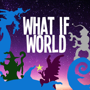 Podcasts For Kids - WhatIfWorld podcast logo