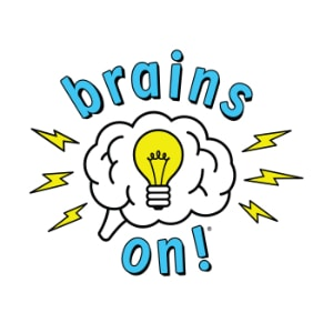Podcasts For Kids - brains on podcast logo