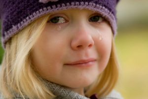 A little girl crying