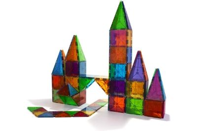 Castle made from colorful tiles