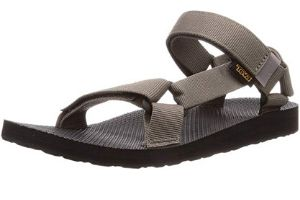 Brown sandals for men with Velcro close