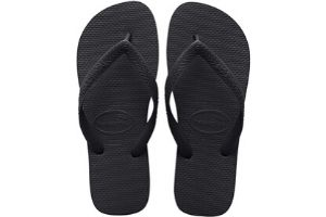 Black flip flop sandals for men