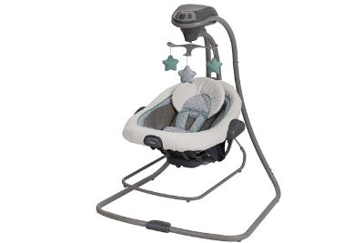 Baby swing and bouncer for infants and toddlers