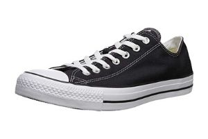 Long lasting black sneaker for women with rubber sole