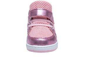 Flashing pink Sneakers for girls with breathable top