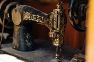 Singer Sewing Machine black antique
