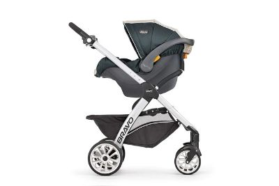 Stroller with canopy and parent tray