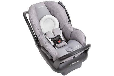 Grey car seat for infants