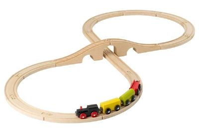 Train set with a bridge and underpass