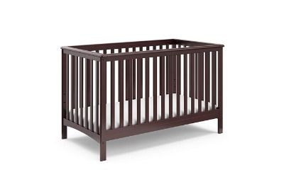 Chocolate brown baby and toddler crib