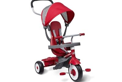 Red and grey tricycle