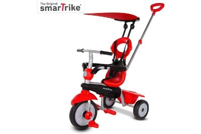 Red and black tricycle