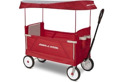 Red wagon for kids and toddlers