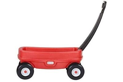 Red wagon with black handle