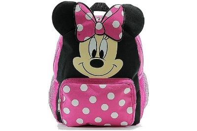 Pink Minnie mouse bag with white dots