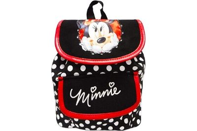 Black Minnie mouse bag with smiling Minnie