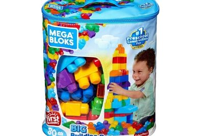 Building block n a bag with picture of a little boy