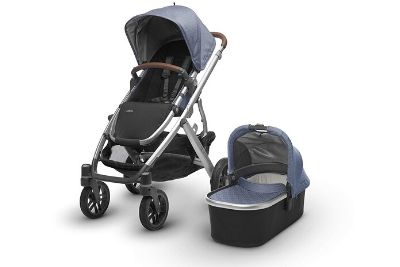 Black and silver stroller