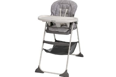 Grey highchair with tray