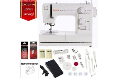 White heavy duty sewing machine