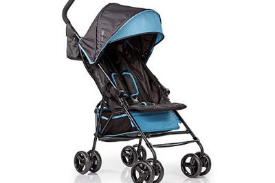 Blue and black baby summer stroller