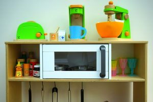 Toy kitchen for kids and toddlers