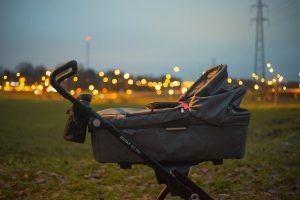 Terrain stroller in the outdoors