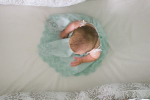 Baby in white cloth