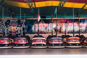 Bumper cars at a fun fair