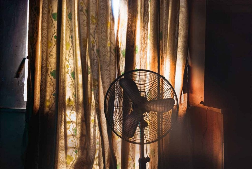 Fan in a room
