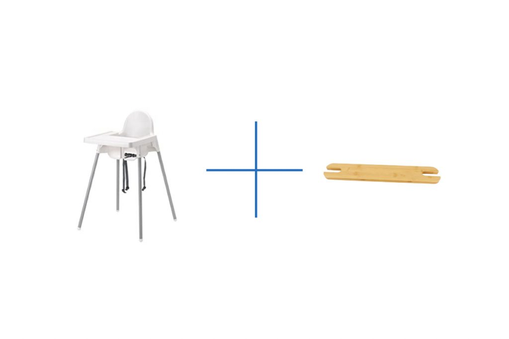 High chair and footrest comparison