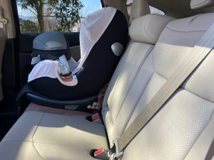 Car seat, side view position image