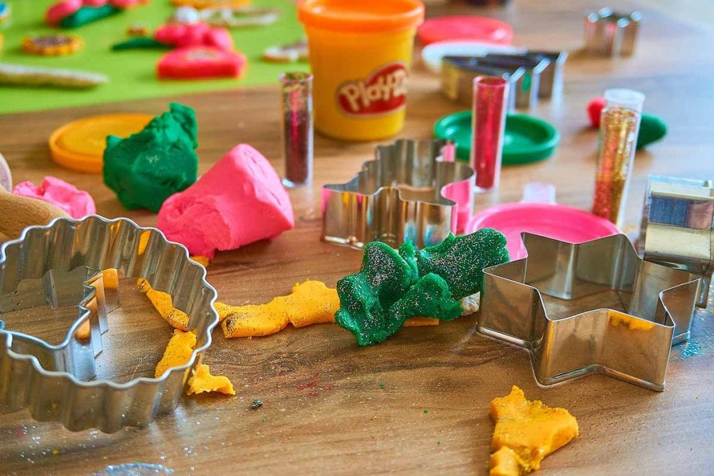 Play dough and shape toys image