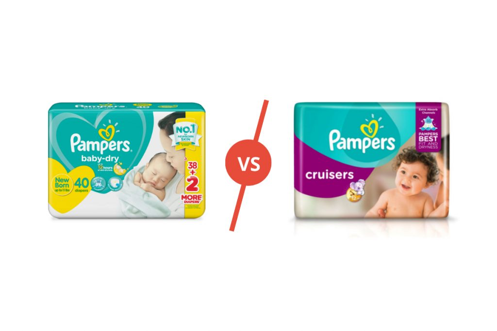 Pampers baby dry and cruisers comparison