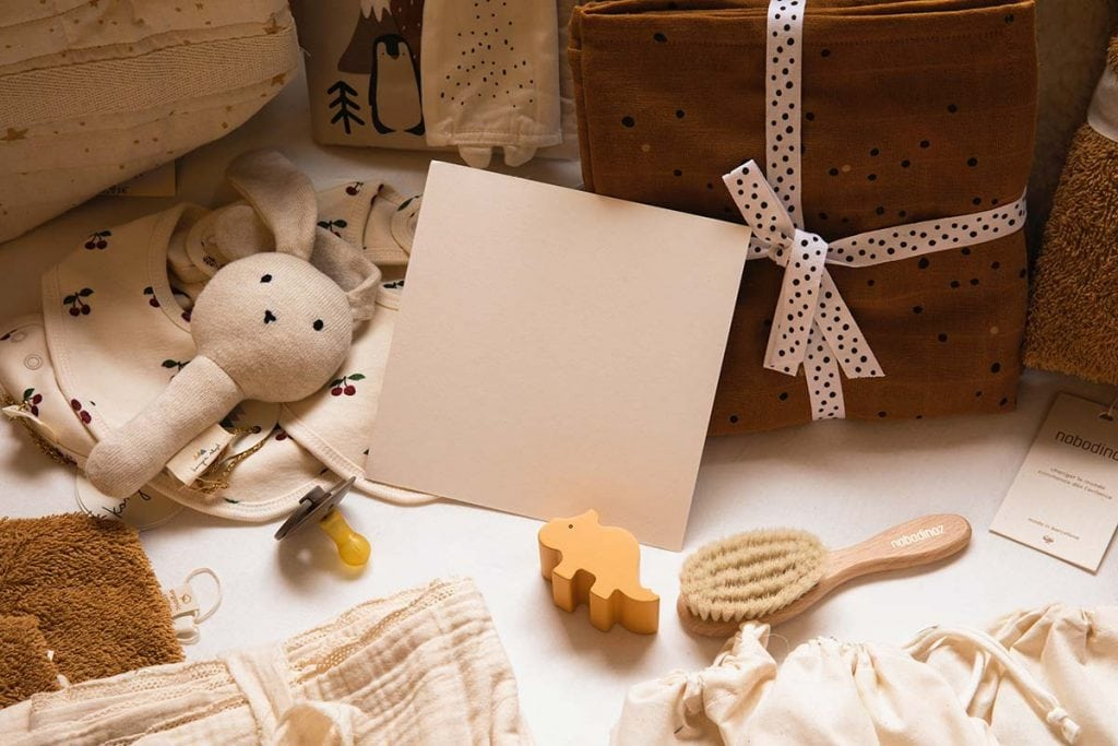 Baby gifts in lanscape